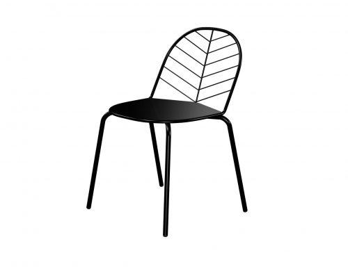 silla Piuma negra-1